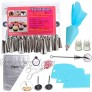 Tumtanm 54 Pieces Cake Decorating Kit with Piping Tips Pastry Bags Icing Smoother Piping Nozzles Coupler for Cake Decoration Baking Tools