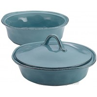 Rachael Ray Cucina Casserole Dish Set with Lid 3 Piece Agave Blue
