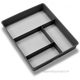 madesmart Basic Gadget Tray Organizer Granite | BASIC COLLECTION | 4-Compartments | Multi-Purpose Storage | Soft-grip lining and Non-slip Rubber Feet | Easy to Clean | Durable | BPA-Free