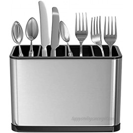 Mystozer Kitchen Utensil Holder for Countertop Stainless Steel Silverware Holder and Utensil Caddy 7.1X 3.39 x 5.1 inches