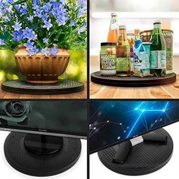 Aleratec Dual Sided TV Swivel Stand 360 Lazy Susan Featuring Heavy Duty 250 lb Capacity 15.5