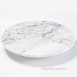 jalz jalz 12'' Marble Lazy Susan Kitchen Turntable
