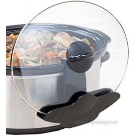 Lid Pocket Organizer Pot Slow Cooker-Unique Kitchen Lid Holder-Keep Your Countertop Free & Clean-Works With Most Crock 1 Pack,