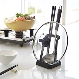 vocheer Pot Lid Holder Kitchen Organizer Rack Spoon Rest Rack Holder-Lid Stand for Utensils in Kitchen Black