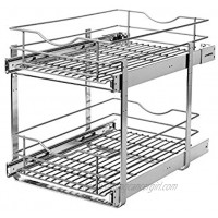 Knape & Vogt RS-DBLMUB-14-FN 14.625 in. W x 21.75 in. D x 16.25in. H Double Tier Pull Out Cabinet Organizer Frosted Nickel