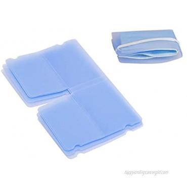 Mask Keeper Set of 20 Folding & Portable Mask Organizer Holder Blue Mask Storage Wallet Case Keeping Mask Clean and Tidy
