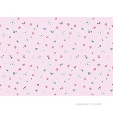 Decorative Pink Floral Butterfly Pattern Contact Paper Self Adhesive Floral Shelf Drawer Liner Cabinets Dresser Furniture Arts and Crafts Vinyl Sticker Wall Paper 17.7x78.7 Inches