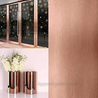 """Rose Gold Contact Paper Metallic Chrome Rose Gold Gloss Self Adhesive Craft Vinyl Roll 78.7""""x17.7""""Covering Removable Protective Film Home Decoration for Furniture Banner Signage,Decals,Laptop"""