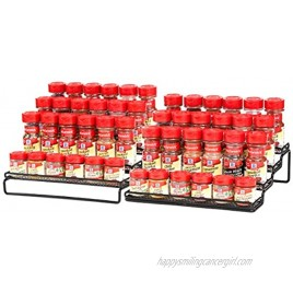 4 Tier Expandable Spice Rack Organizer for Cabinet 11.5 to 23 Inch Step Shelf Spice Storage Holder for Kitchen Countertop Cupboard Pantry
