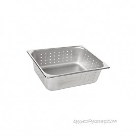 Benchmark 56743 Half-Size Perforated Pan 12-1 2 Length x 10-1 4 Width x 4 Height