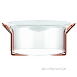 Bodum Hot Pot Bakeware Dish with Silicone Lid & Copper Stand 2.0 L 68 oz Large Copper