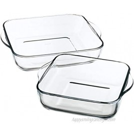 Borcam 1690037Care Baking Dishes Set of 2Clear Glass 31.5x 28x 6cm