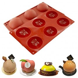 6 Holes Large Silicone Mold Semi Sphere Baking Mold for Making Hot Chocolate Bomb Cake Jelly Pudding Dome Mousse Large 1pcs