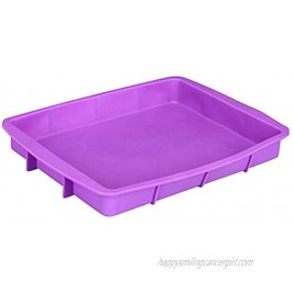 Silicone Cake Pans Rectangle Silicone Bakeware Bread Baking Pan Mold Easy Demoulding 13 by 10-Inch Non-Stick European-Grade Silicone BPA Free 500 ℉ Dishwasher Refrigerator Oven Microwave Safe
