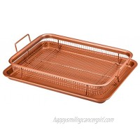 Copper Chef 2-Piece Non-Stick Bakeware Set for Oven with Crisper Pan and Cookie Sheet 13 x 9-Inch,N5O4RBL